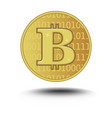 bitcoin isolated on white background golden vector image