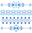 blue oriental border and ornament vector image vector image