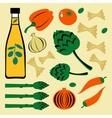 Bright colorful food set vector image vector image