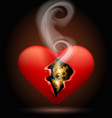 broken machine heart vector image vector image