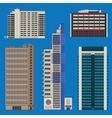 Buildings set with skyscrapers and hotels vector image vector image