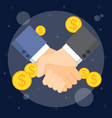 business man handshake vector image vector image