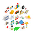 coinage icons set isometric style vector image vector image