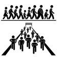 community walk and run marching marathon rally vector image