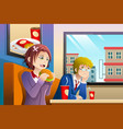 couple eating lunch together vector image