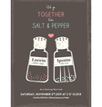 cute salt and pepper wedding invitation card vector image