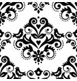damask tiled textile fabric print pattern vector image vector image