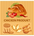Different parts chicken product vector image