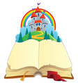 fairy tale book theme image 1 vector image vector image
