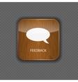 Feedback wood application icons vector image vector image