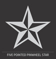 five pointed pinwheel star icon vector image vector image