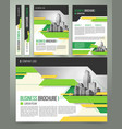flyer cover design business brochure vector image vector image