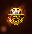 football club logo design template vector image vector image