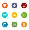 gambling establishment icons set flat style vector image vector image