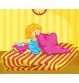 Girl awake vector image vector image