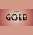 gold font 3d bold style modern typography vector image vector image