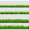 grass border set vector image vector image