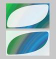 Green blue business card template design set vector image vector image