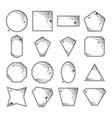 halloween geometric frames vector image vector image