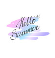 hand drawn lettering hello summer isolated vector image