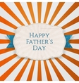 Happy Fathers Day festive Tag with blue Type vector image vector image