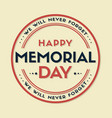 happy memorial day stars and stripes vector image vector image