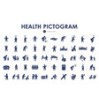health pictograph persons icon set line style vector image vector image