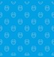 hockey helmet pattern seamless blue vector image vector image