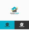 home care logo template vector image vector image