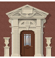 image stone entrance vector image