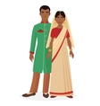 Indian family Indian man and woman couple in vector image