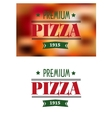 Italian premium pizza poster vector image vector image