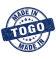 made in Togo vector image vector image