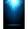 Magic light background Blue holiday vector image vector image