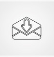 mail icon sign symbol vector image vector image