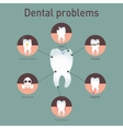Medical infografics Dental problems vector image vector image