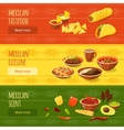 Mexican Food Banner Set vector image