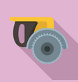 miter saw icon flat style vector image vector image