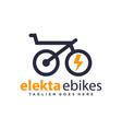 modern logo outline electric bike vector image