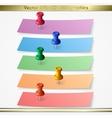 Modern paper sheet sticker infographics elements vector image