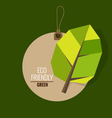 Nature banner Ecology concept with tree background vector image