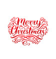 ornate merry christmas lettering background vector image vector image