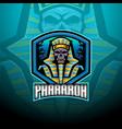 pharaoh esport mascot logo design vector image vector image