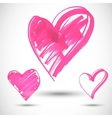 Pink big heart shape vector image