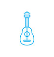 playing guitar linear icon concept playing guitar vector image vector image
