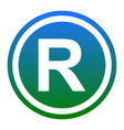 registered trademark sign white icon in vector image