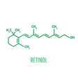 retinol vitamin a essential for vision and bone vector image vector image