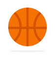 rubber basketball flat isolated vector image