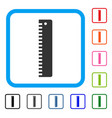 ruler framed icon vector image vector image