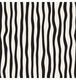 Seamless Black and White Hand Drawn Stripes vector image vector image